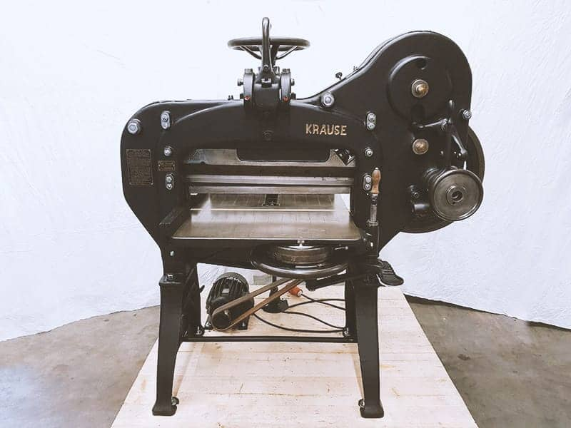 Karl Krause Leipzig Cuttingmachine