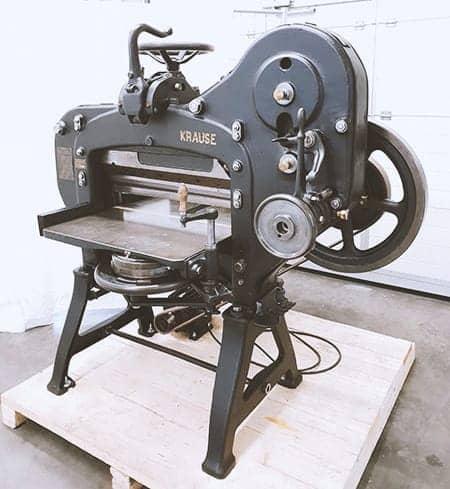 Karl Krause Leipzig Cuttingmachine